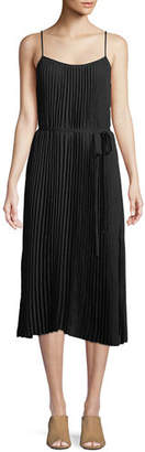 Vince Pleated Cami Midi Dress