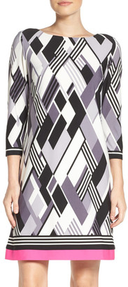 Eliza J Contrast Hem Shift Dress $118 thestylecure.com