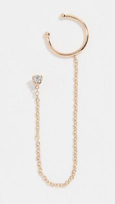 Chicco Zoe 14k Gold Diamond Stud With Wire Ear Cuff