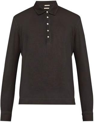 Massimo Alba Watercolour Dyed Polo Shirt - Mens - Black