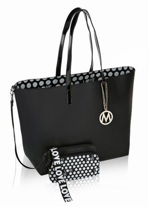 Mkf MKF Collection Taylor Reversible Shopper Tote/ Shoulder Bag with Wallet Pouch/Wristlet by Mia K Farrow