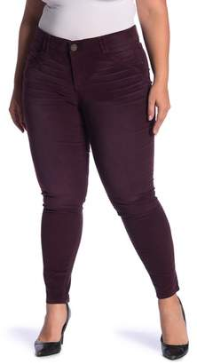 Democracy Tummy Control Corduroy Skinny Jeggings (Plus Size)