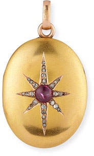 Turner & Tatler 18k Starburst Photo Locket