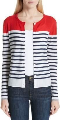 Majestic Filatures Stripe Cashmere Cardigan
