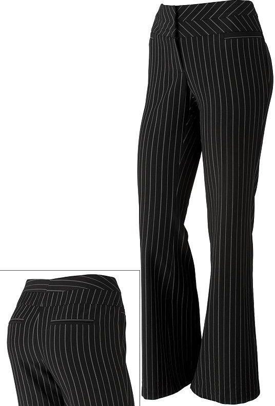 Stooshy pin-striped dress pants