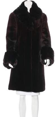 Chinchilla-Trimmed Mink Fur Coat