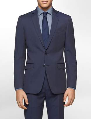 Calvin Klein body slim fit navy pinstripe suit jacket