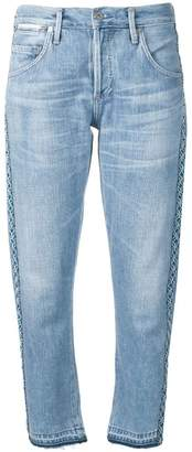 Citizens of Humanity cropped faded jeans