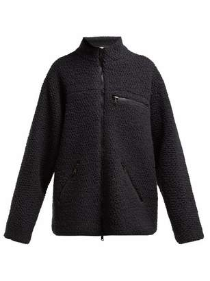 Raey Oversized Zip Through Fleece Jacket - Womens - Navy