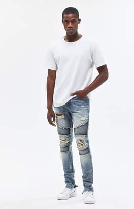 Moto Pacsun Stacked Skinny Fray Medium Jeans