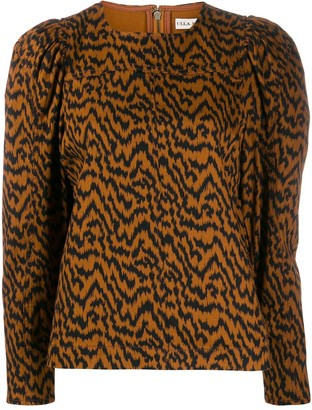 Ulla Johnson Ikat zebra print blouse