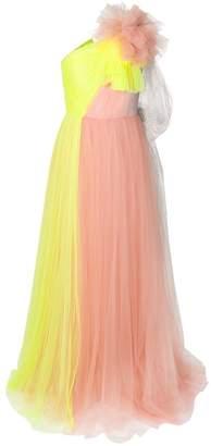 DELPOZO contrast flared maxi dress