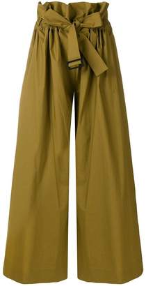 Cavallini Erika wide leg belted trousers