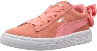 Puma Girl's Suede Bow AC PS Athletic Shoe