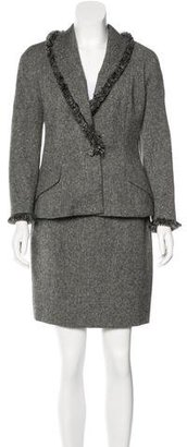 Christian Dior Wool Tweed Skirt Suit
