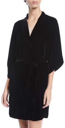 Christine Lingerie English Rose Velvet Short Robe
