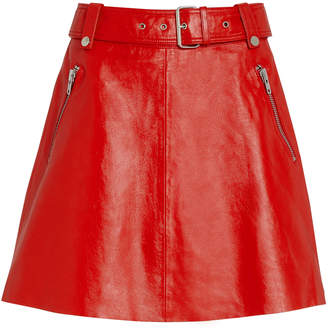 Notes Du Nord Magnolia Leather Mini Skirt