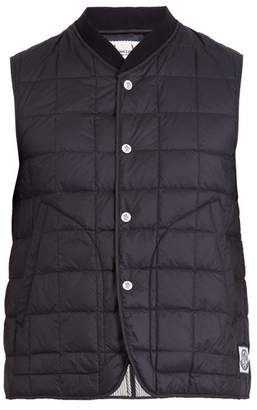 Moncler Gamme Bleu Square Quilted Down Gilet - Mens - Black