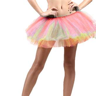 Bebogo Womens Vintage Short Tutu Petticoat Ballet Bubble Tulle Skirt 1950s Mini Dress