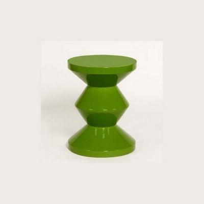Zig Zag Stool - Green
