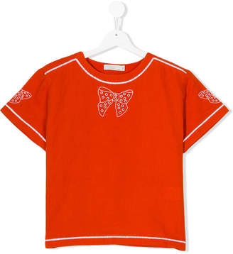 Stella McCartney bow embroidered T-shirt