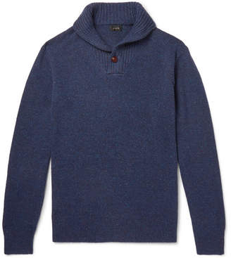 J.Crew Shawl-Collar Donegal Merino Wool-Blend Sweater