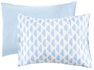 Hudson Baby Toddler Pillow Case, 2-Pack, Heather Light Blue/Cloud