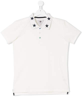 Macchia J Kids TEEN star embellished polo shirt