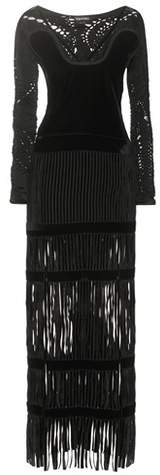 Tom Ford Fringed velvet gown