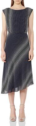REISS Felicia Printed Midi Dress $330 thestylecure.com