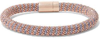 Carolina Bucci Twister Rose Gold Plated And Silk Bracelet - one size
