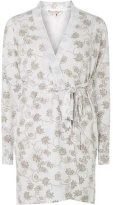 Dorothy Perkins Womens Mink Floral Print Summer Dressing Gown