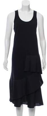 Thakoon Pleated-Accented Sleeveless Dress w/ Tags