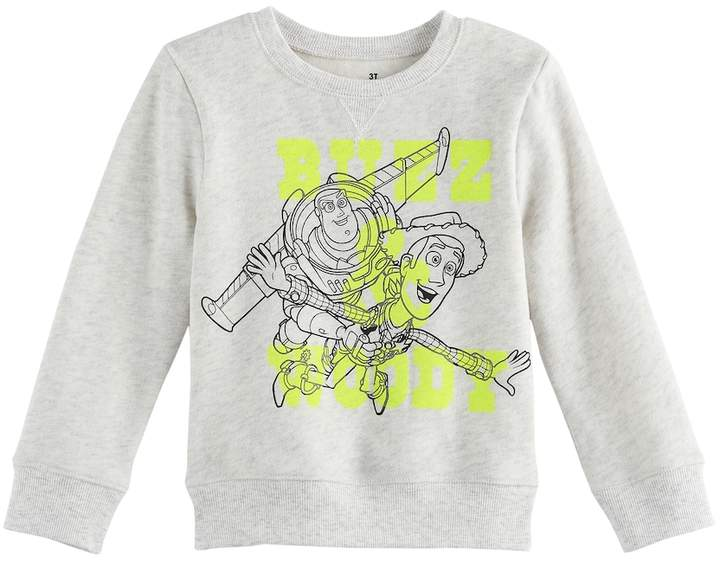 Disney/Jumping Beans Disney / Pixar Toy Story Baby Boy Buzz Lightyear & Woody Softest Fleece Pullover Sweatshirt by Jumping Beans®