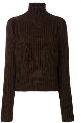 Calvin Klein cut out shoulder jumper