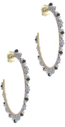 Saachi Hand Beaded Open Hoop Earrings