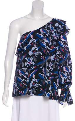 Tanya Taylor One-Shoulder Silk Blouse w/ Tags