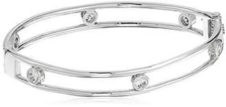 Jessica Simpson Cubic Zirconia Oval Gold Hinge Bracelet