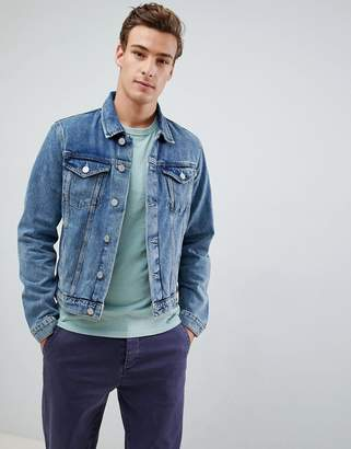 Selected Blue Denim Wash Jacket
