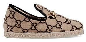 Gucci Women's Fria Wool GG Slippers
