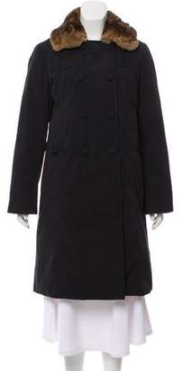 Max Mara Weekend Fur-Trimmed Knee-Length Coat