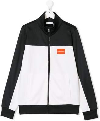 Calvin Klein Kids zipped logo jacket