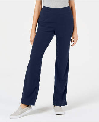 Karen Scott Microfleece Pull-On Knit Pants