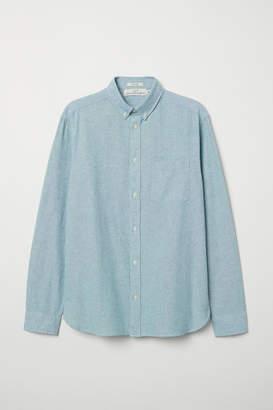H&M Regular Fit Oxford Shirt - Green