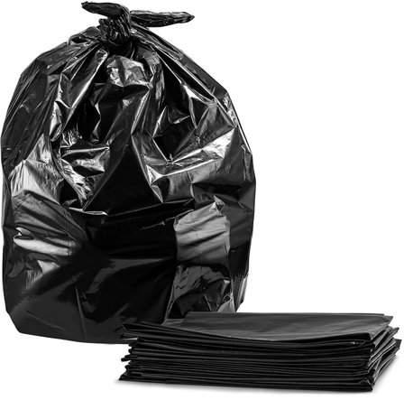 Facetosun 50Pcs 55 Gallon Thicken Indoor Outdoor Kitchen Trash Bags Garbage Rubbish Bag(No Can)