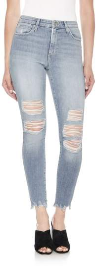 The Charlie High Waist Ripped Ankle Skinny Jeans