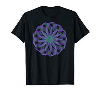 Shapes Mania: Abstract Purple Green Spiral Lines T-shirt