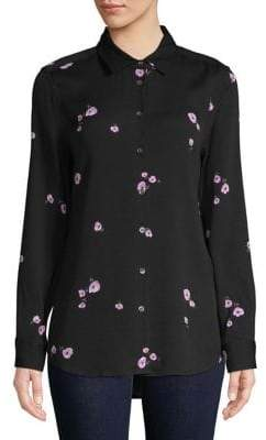 Equipment Long-Sleeve Floral Shirt