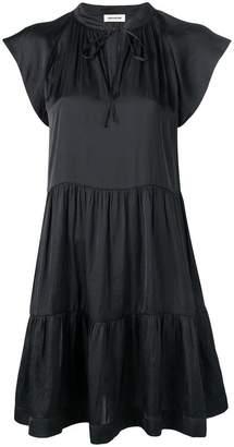 Zadig & Voltaire Zadig&Voltaire cap sleeve flared dress