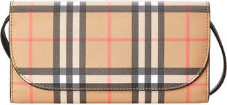 Burberry Vintage Check Leather Wallet